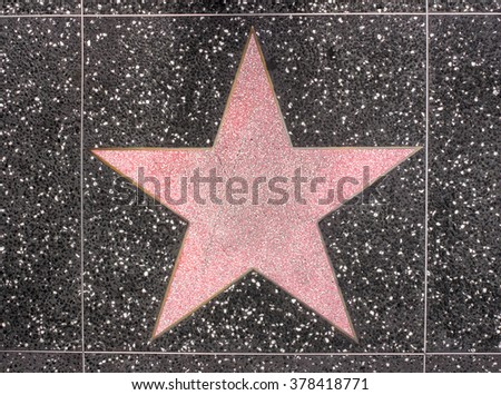 OSAKA, JAPAN - JUNE 2, 2015: Photo of Pink empty star on Hollywood Walk of Fame in Universal Studio Osaka, Japan.