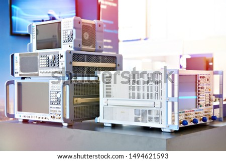 Oscilloscope and network analyzer in lab