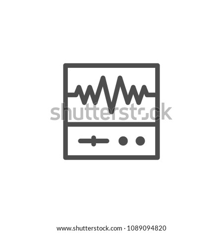 Oscilloscope line icon isolated on white