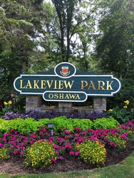 Oshawa, Ontario-Canada, July 25 2020. Signage, Lakeview Park Oshawa.