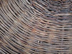 Osier basket texture. Wickerwork pattern. Old willow weaving.