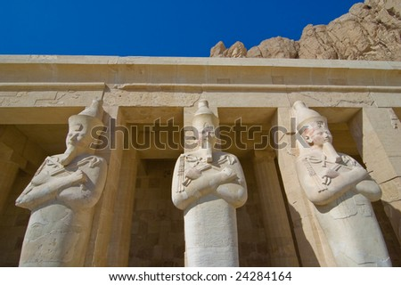 Osiris statues at Hatshepsut temple