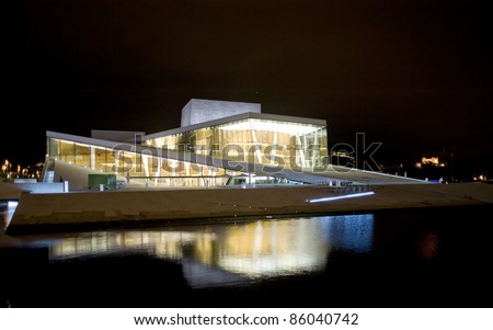 OSLO - AUGUST 15: Oslo Opera House on August 15, 2010 in Oslo, Norway. The Oslo Opera House is the home of The Norwegian National Opera and Ballet, and the National Opera Theatre.