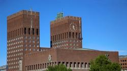 Oslo City Hall (Radhus) in Oslo, Norway