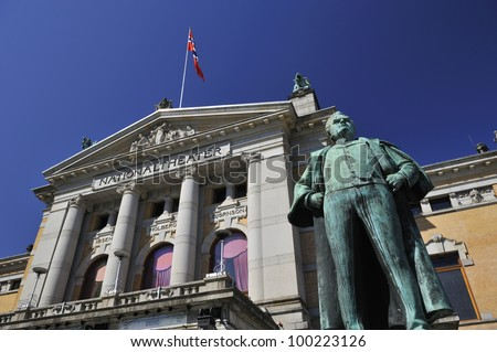 "Oslo, Norway - 5th Aug 2008 - Nationaltheatret (""The National Theater"") is one of Norway's largest and most prominent venues for performance of dramatic arts."