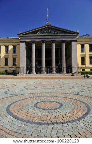 Oslo, Norway - 5th Aug 2008 - The University of Oslo ( is the oldest, largest and most prestigious university in Norway, situated in the Norwegian capital of Oslo
