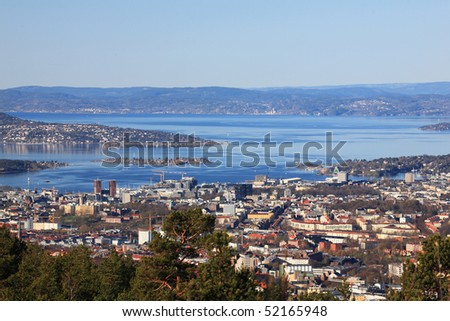 Oslofjord and Oslo center
