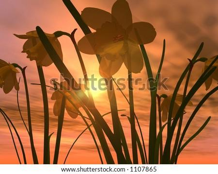 Osterglocken Stock foto ©