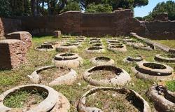 Ostia Antica - grain storage amphoras. Rome, Italy