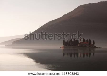 Ostrvo Sveti Dorde ( Island of Saint George) is one of the two islets off the coast of Perast in Bay of Kotor, Montenegro