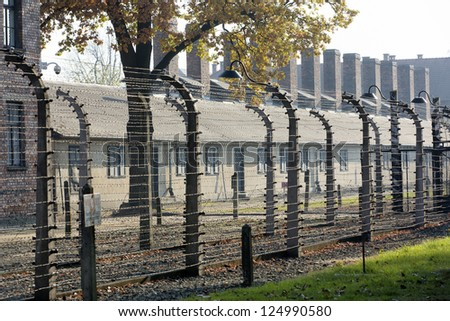 OSWIECIM, POLAND - OCTOBER 22:  Auschwitz Camp I, a former Nazi extermination camp on October 22, 2012 in Oswiecim, Poland. It was the biggest nazi concentration camp in Europe.