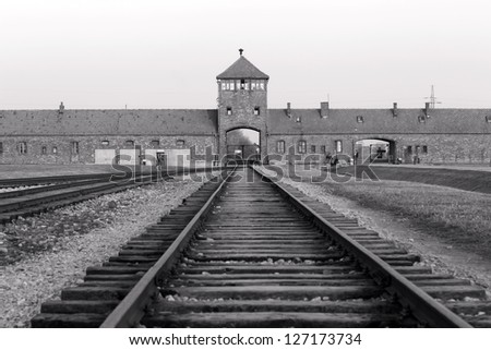 OSWIECIM, POLAND - OCTOBER 22: Auschwitz Camp II, a former Nazi extermination camp on October 22, 2012 in Oswiecim, Poland. It was the biggest nazi concentration camp in Europe.