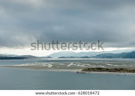 Otago Harbour east of Dunedin, South Island, New Zealand #628018472