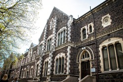 Otago University, Dunedin -Oct 2019: University of Otago located in South island of new zealand. View in the Otago university area.