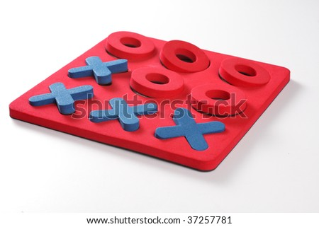 Other red and blue games. Objects over white.
