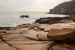 Otter Cliffs Acadia National Park Winter