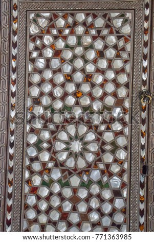 Ottoman art example of Mother of Pearl inlays #771363985