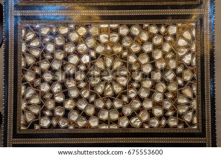 Ottoman art example of Mother of Pearl inlays from Istanbul #675553600