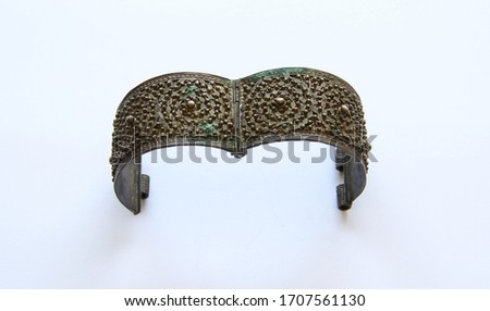 Ottoman Design Handmade Cuff Bracelet Closeup Stok fotoğraf ©