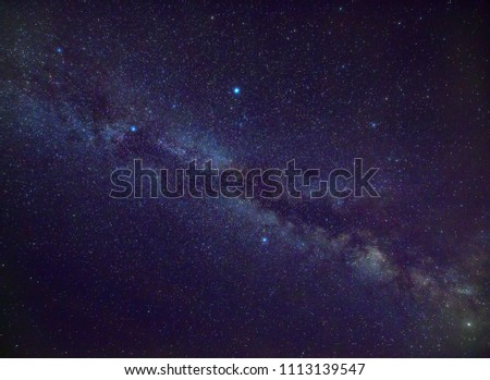 Our galaxy, the Milky Way as seen in the Northern hemisphere in summertime #1113139547