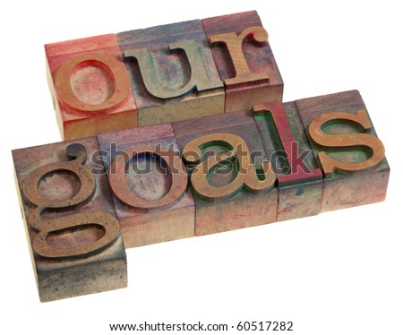 our goals concept   words in...