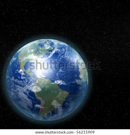 Our home planet in space
