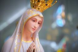 Our Lady of Fatima virgin Mary catholic statue