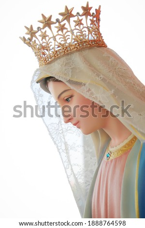 Our lady of grace Catholic Virgin Mary statue Stock fotó ©