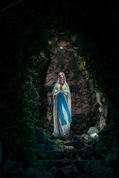 our Lady of Lourdes catholic statue