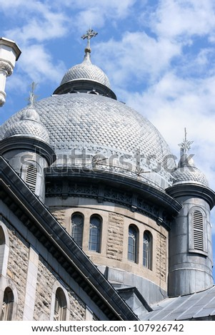 Our Lady of Lourdes Chapel (Chapelle Notre-Dame-de-Lourdes) in Montreal, detail of the dome.
