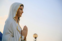 our lady of Lourdes Virgin Mary catholic statue