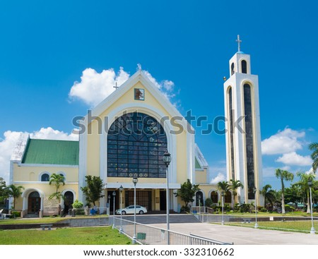 Our lady of penafrancia church in naga city, philippines. The Image of Our Lady of Penafrancia is enshrined in her sanctuary at the Basilica Minore