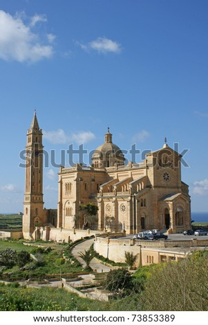 Our Lady of Ta'Pinu Church on the island of Gozo next to Malta