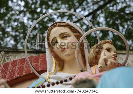Our lady of the Holy Rosary  #743249341