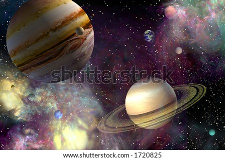 Our Solar System - stock photo