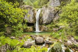 Ourlia forest waterfalls at Olympus mountain, Greece