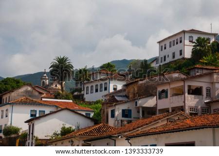 Ouro Preto, Minas Gerais, Brazil: View of the unesco world heritage city of Ouro Preto in Minas Gerais