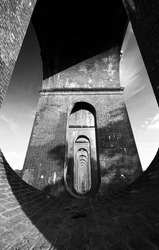 Ouse Valley viaduct abstract black and white