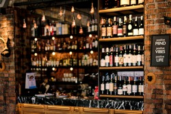 Out focus of Liquor bar background
