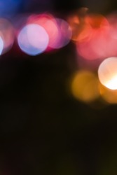 out of focus blurred with bokeh and black background