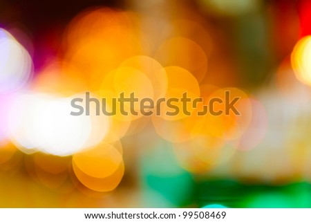Out of focus color lights background