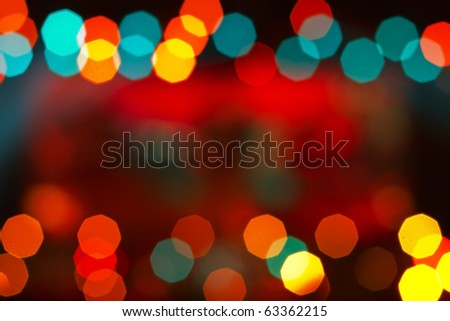 Out of focus effect abstract colorful background