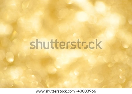out of focus golden background - stock photo
