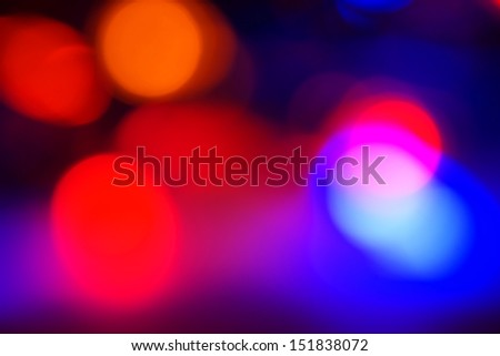 Out of focus LED Christmas lights, holiday background