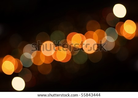 Out of Focus Lights during the Night,