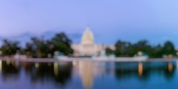 Out of Focus of The United Statues Capitol Building, Washington DC, USA.