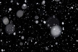 Out of focus snowfall for use as a texture layer in your project. Design element for overlay. Snow layer for design.