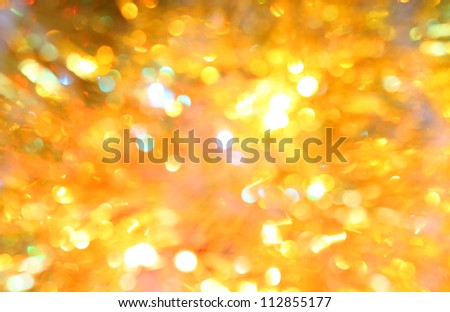 out-of -focus yellow and gold geometrical lights