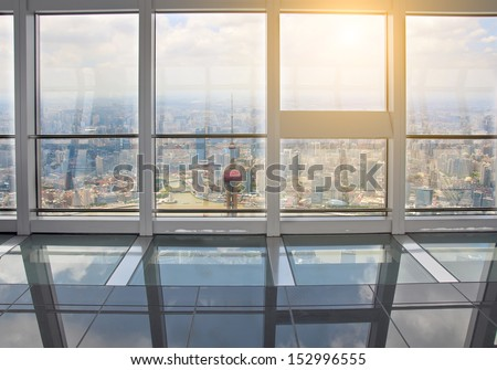Out of the window is Shanghai lujiazui financial center #152996555