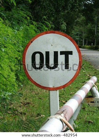 Out sign - stock photo